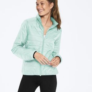 Mint puffer jack from Victoria's Secret PINK